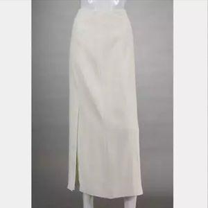 CHANEL Long Ivory Skirt 34